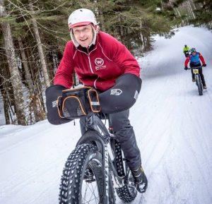 Dave Schlabowske riding in the fat bike birkie