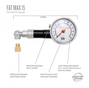 Photo of a fat max 15 tire gauge and how it works