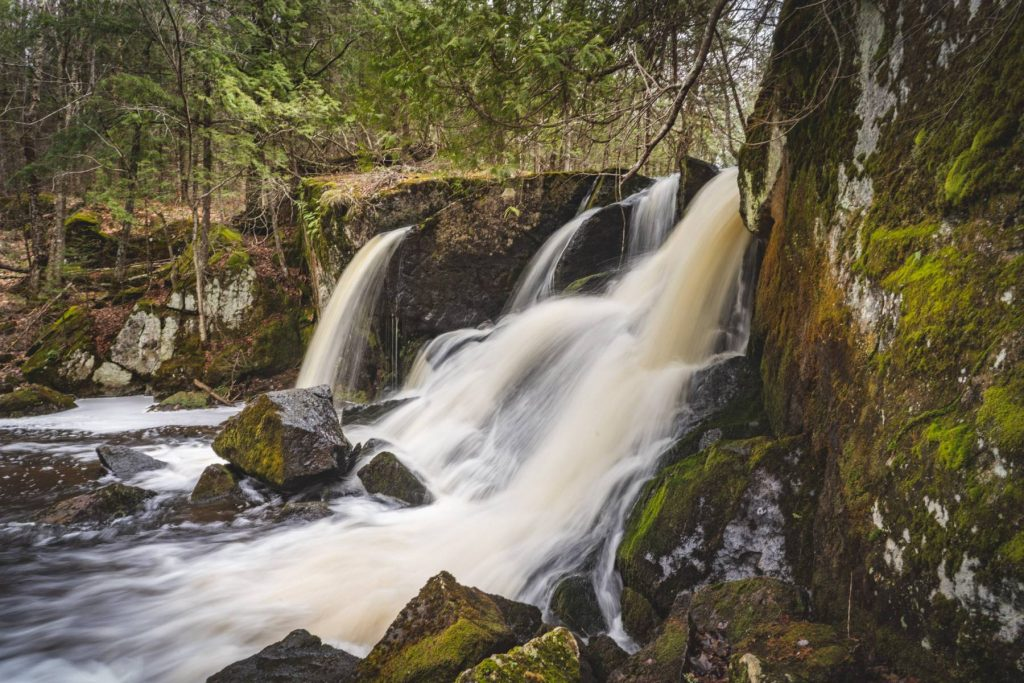 Waterfall on Spring Brook in Marengo, WI